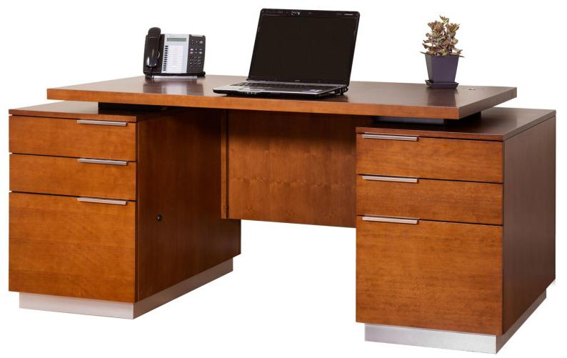 kathy ireland Home by Martin Monterey Double Pedestal Executive Desk - Item Number: MT720