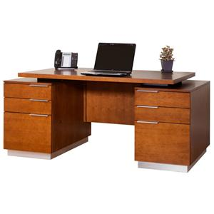 kathy ireland Home by Martin Monterey Double Pedestal Executive Desk