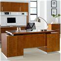 kathy ireland Home by Martin Monterey Contemporary Double Pedestal Executive Desk