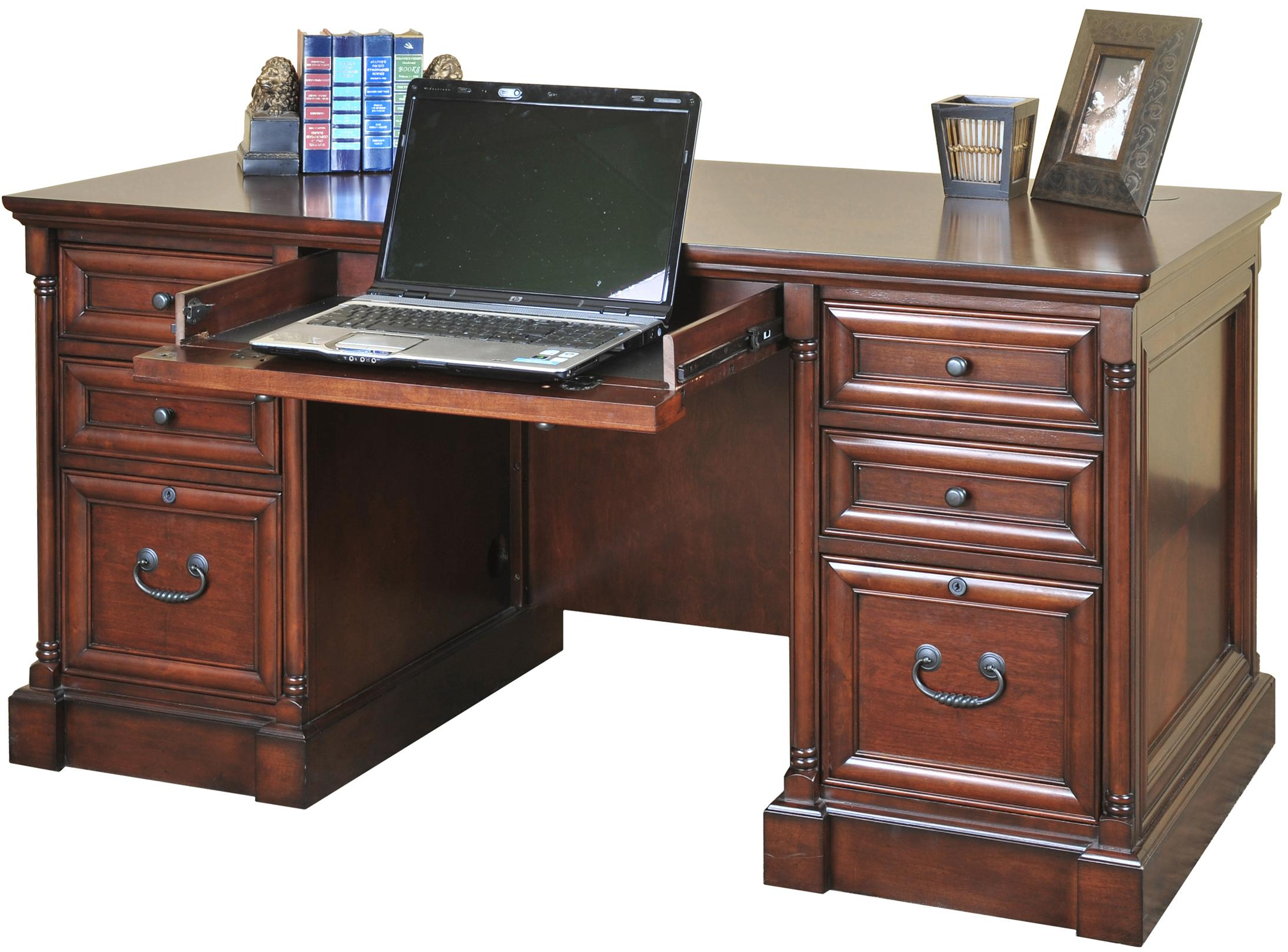 kathy ireland Home by Martin Mount View Efficiency Double Pedestal Desk - Item Number: IMMV661