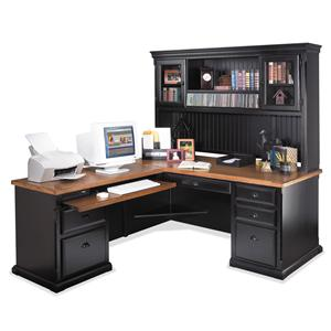 kathy ireland Home by Martin Southampton L-Shaped Desk with LHF Return and Hutch