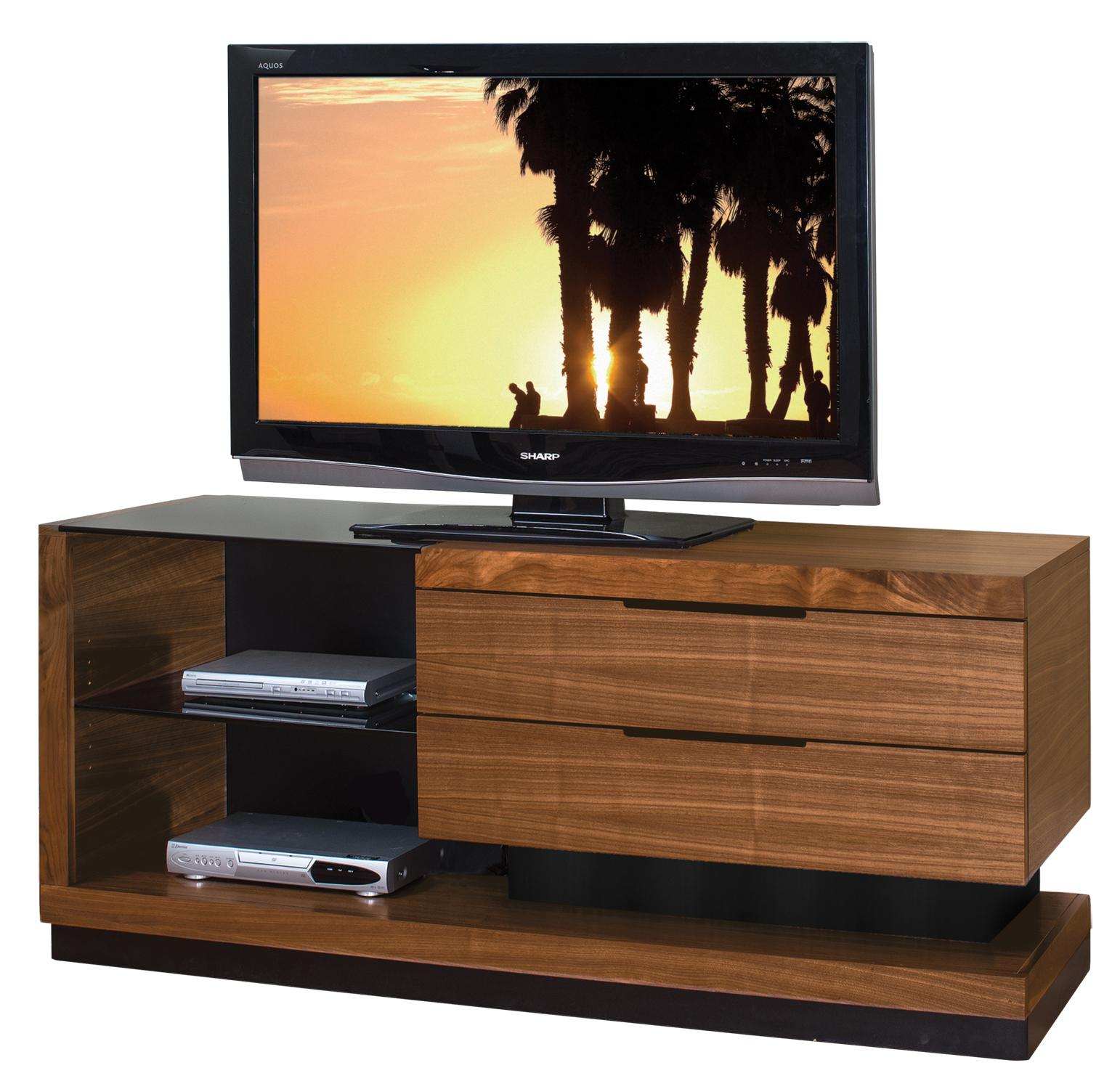 Martin Home Furnishings Stratus-Walnut Small Television Console - Item Number: SS360