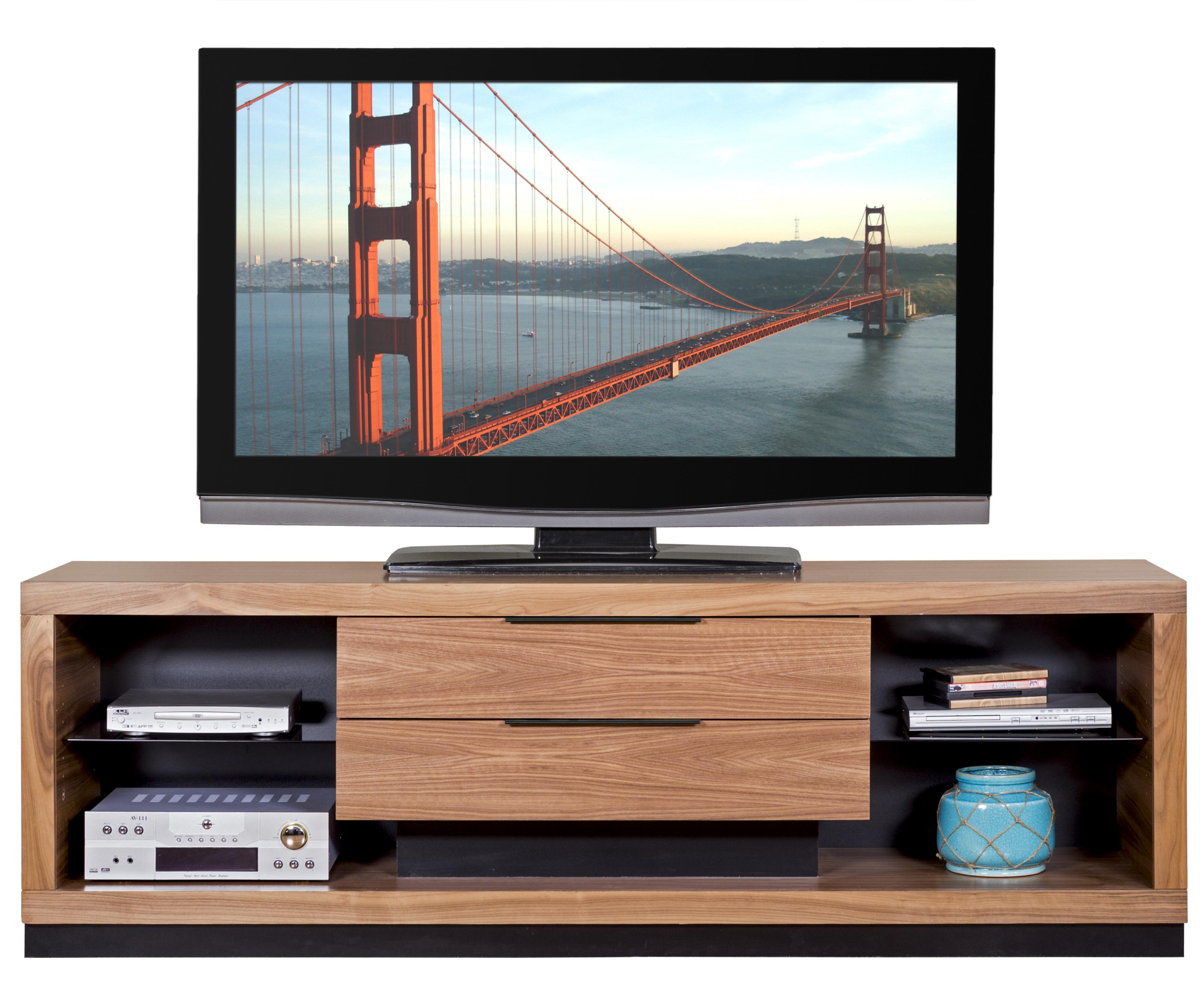 Martin Home Furnishings Stratus-Walnut Television Console - Item Number: SS380