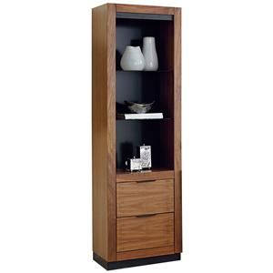 Martin Home Furnishings Stratus-Walnut Pier with Drawers