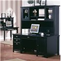kathy ireland Home by Martin Tribeca Loft Desk & Hutch - Item Number: TL685+682