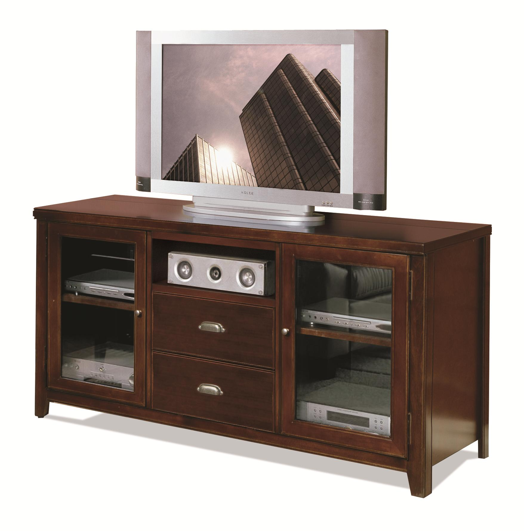 kathy ireland Home by Martin Tribeca Loft Tall Console for Flat Panel Television - Item Number: TLC363
