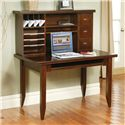 kathy ireland Home by Martin Tribeca Loft Table Desk With Keyboard Pull-Out - Shown with Hutch