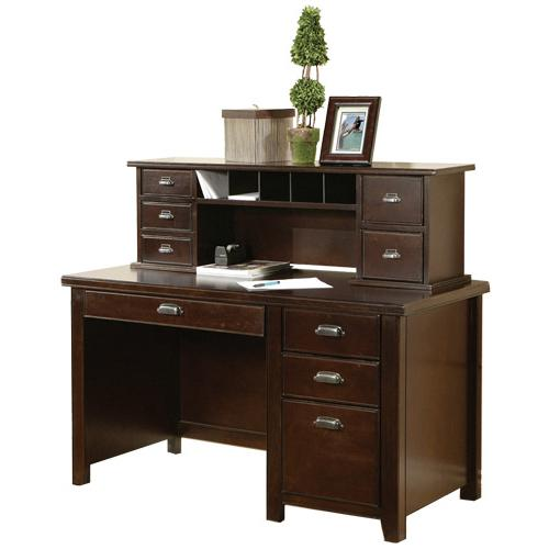 kathy ireland Home by Martin Tribeca Loft Single Pedestal Desk with Hutch - Item Number: TLC540+478