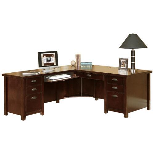 kathy ireland Home by Martin Tribeca Loft L-Shaped Executive Desk - Item Number: TLC684L+L-R
