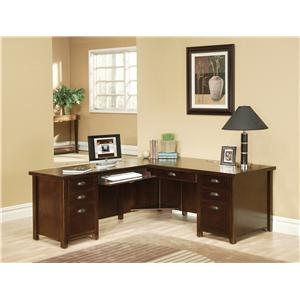 kathy ireland Home by Martin Tribeca Loft L-Shaped Desk with Left Hand Facing Return