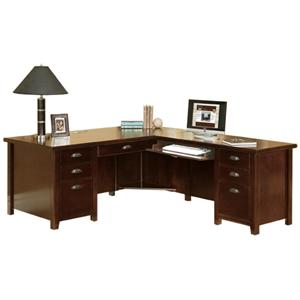 kathy ireland Home by Martin Tribeca Loft L-Shaped Right Hand Facing Executive Desk
