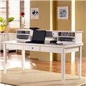 kathy ireland Home by Martin Tribeca Loft Writing Table with Hutch - Item Number: TW384+678
