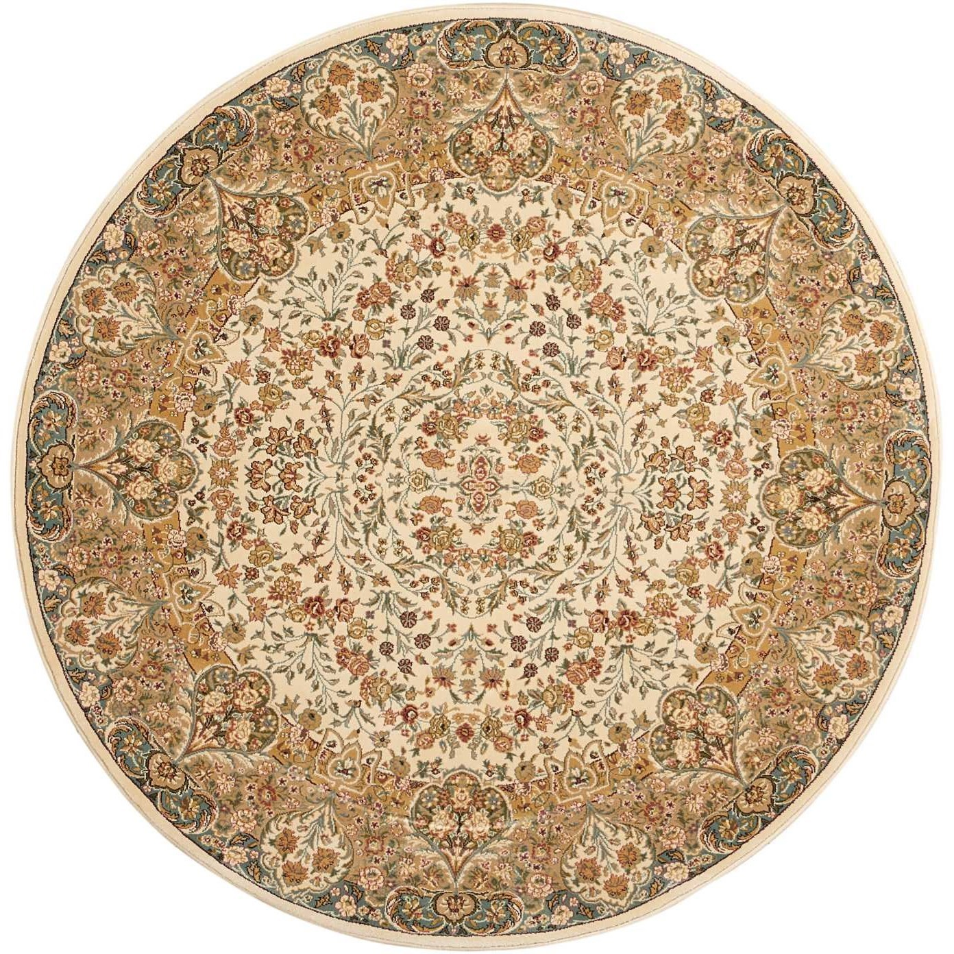 """Antiquities 5'3"""" x 5'3"""" Rug by kathy ireland Home by Nourison at Home Collections Furniture"""