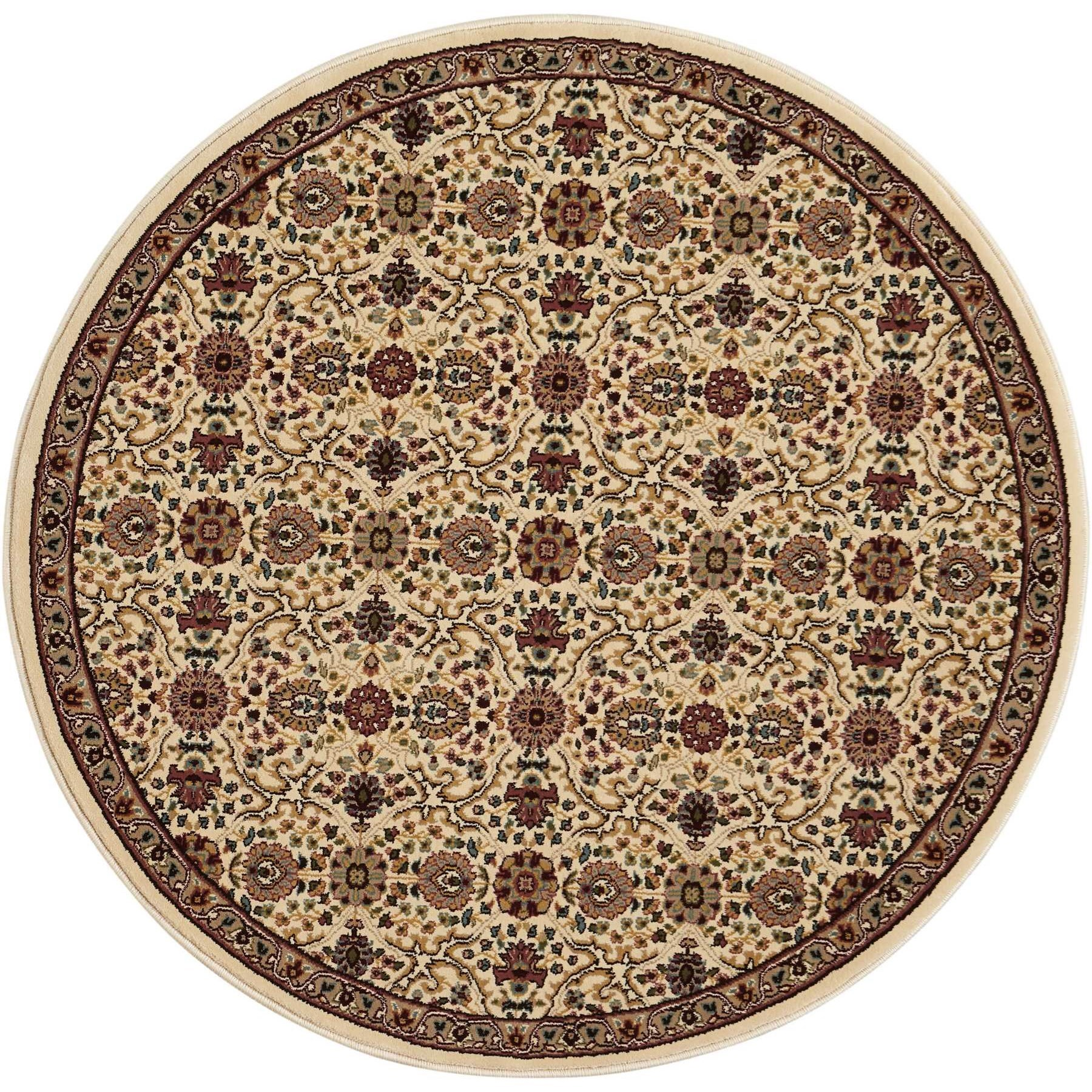 "Antiquities 3'9"" x 3'9"" Rug by kathy ireland Home by Nourison at Home Collections Furniture"