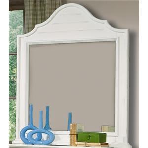 Vaughan Furniture Cottage Grove Dresser Mirror in Creamy White Finish