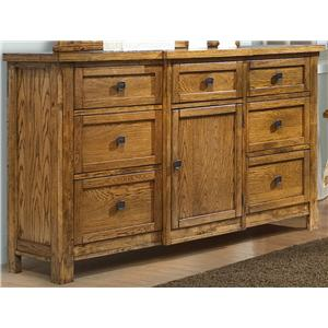 Dresser with 7 Drawers and 1 Door