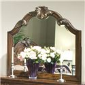 Vaughan Furniture Romantic Dreams Wood-Framed Dresser Mirror with Waved Top & Applied Carvings - 577-02M