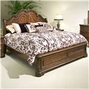 Vaughan Furniture Romantic Dreams Queen Sleigh Bed - Item Number: 577-33H+33F+33R
