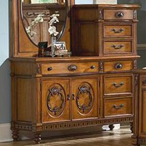 Charming Southern Heritage Seven Drawer Two Door Chesser With Pier U0026 Molding Details  By Vaughan Furniture