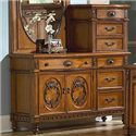 Vaughan Furniture Southern Heritage Seven-Drawer Two-Door Chesser with Pier & Molding Details - 327-04B+04P