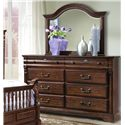 Vaughan Furniture Washington Manor Eight-Drawer Dresser with Arched Landscape Mirror - 178-02+178-02M