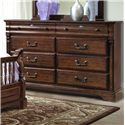 Vaughan Furniture Washington Manor Eight-Drawer Dresser with Arched Landscape Mirror - 178-02+178-02M - Dresser