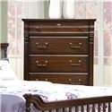Vaughan Furniture Washington Manor Five-Drawer Chest with Shaped Base & Metal Bail Hardware - 178-05