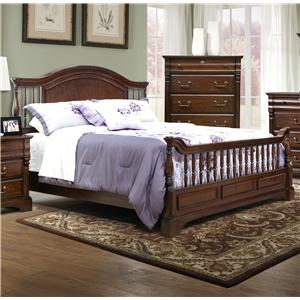 Vaughan Furniture Washington Manor King Bannister Bed with Turned Posts