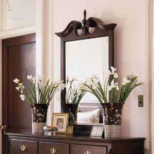 Kincaid Furniture Carriage House Vertical Broken Pediment Mirror