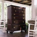 Kincaid Furniture Carriage House Six Drawer Chest on Chest