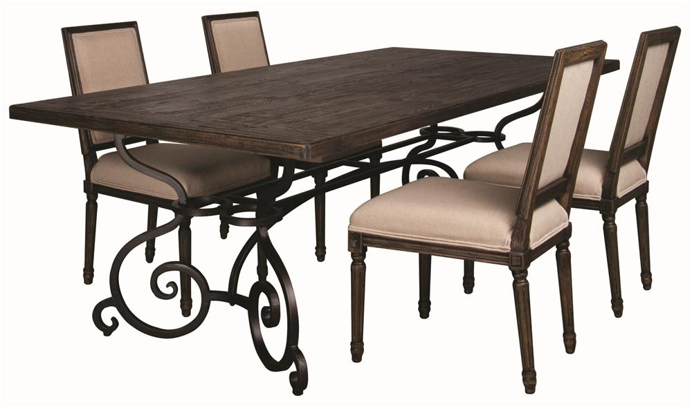 Morris Home Furnishings Middleburg Middleburg 5 Piece Dining Set - Item Number: 90-2139Z/49Z/2419RZ(4)