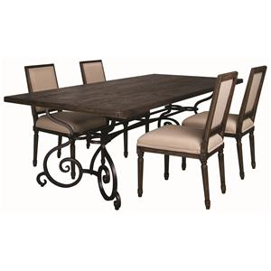 Morris Home Furnishings Middleburg Middleburg 5 Piece Dining Set