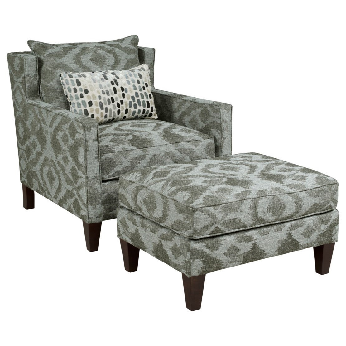 Alta Chair & Ottoman Set by Kincaid Furniture at Wilson's Furniture