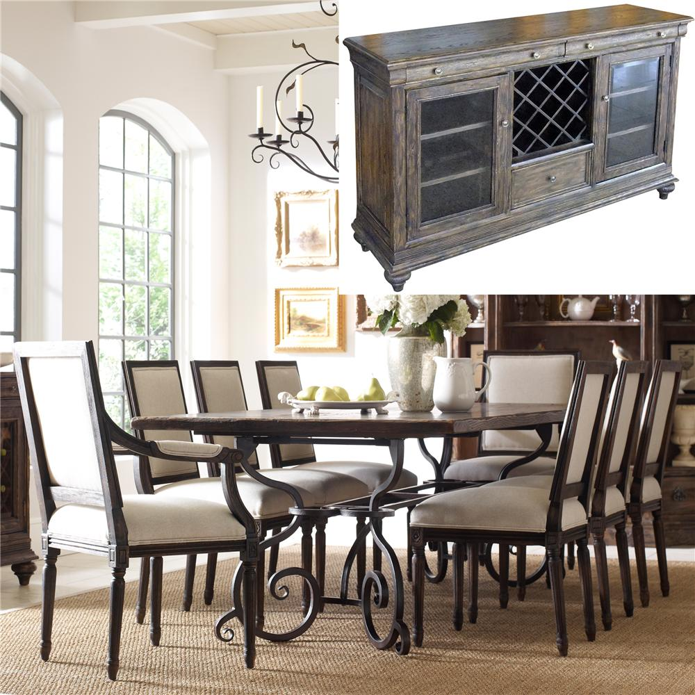 Kincaid Furniture Artisan's Shoppe Dining 8Pc Dining Room - Item Number: 90-2119+2419+2514