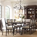 Kincaid Furniture Artisan's Shoppe Dining 7Pc Dining Room - Item Number: 90-2119+90-2419x6