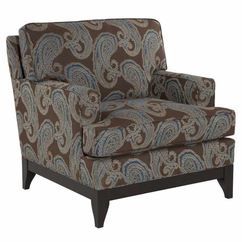 Kincaid Furniture Alston Tapered Wooden Leg Chair Johnny Janosik Upholstered Chair