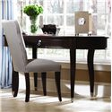 Kincaid Furniture Alston Oval Writing Desk - Shown with Upholstered Chair and Miscellaneous Desk Items