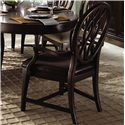 Kincaid Furniture Alston Arm Chair Leather - 92-062L - Shown with Oval Leg Table