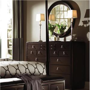 Kincaid Furniture Alston Bureau Round Mirror