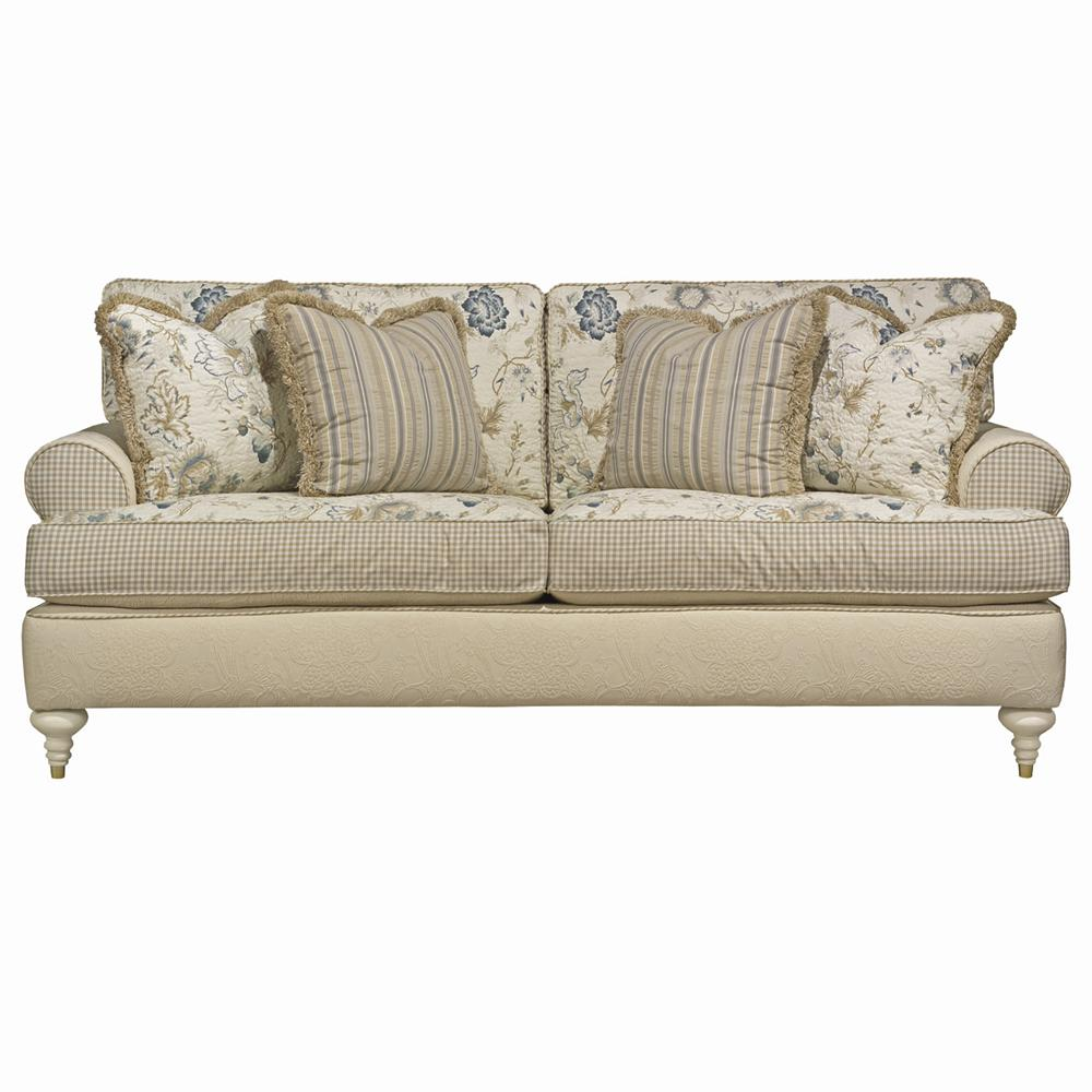 Kincaid Furniture American Journal Upholstered Sofa with Turned Legs ...
