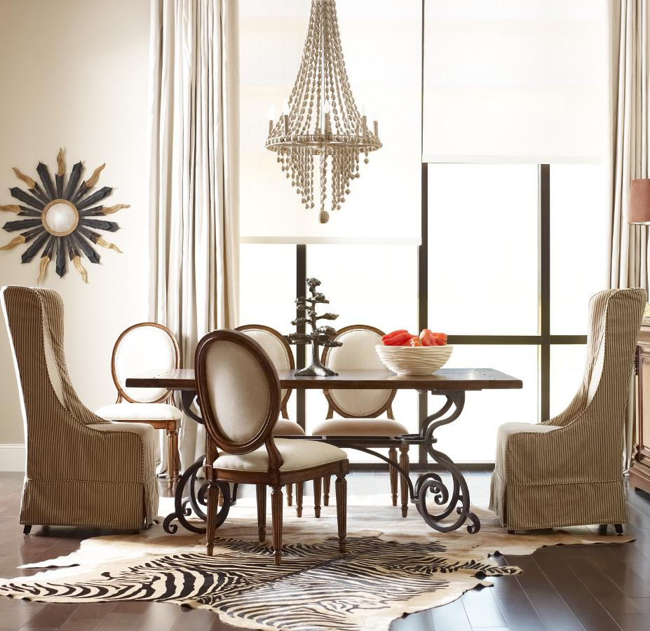 """Kincaid Furniture Artisan's Shoppe Dining 7 pc 72"""" Table w/ Oval and Hostess Chairs - Item Number: 90-2115P+4X90-2496+2X90-2399C"""