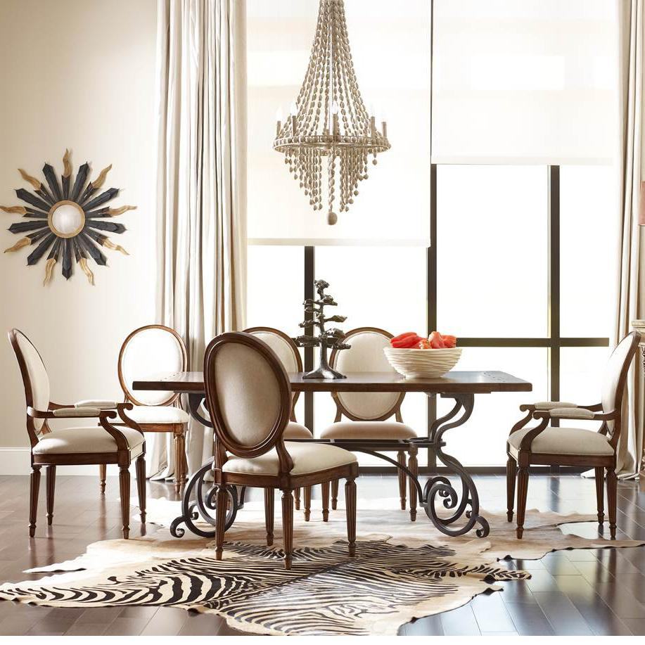"Kincaid Furniture Artisan's Shoppe Dining 7 pc 72"" Table w/ Oval-Backed Chairs - Item Number: 90-2115P+4X90-2496+2X90-2485"