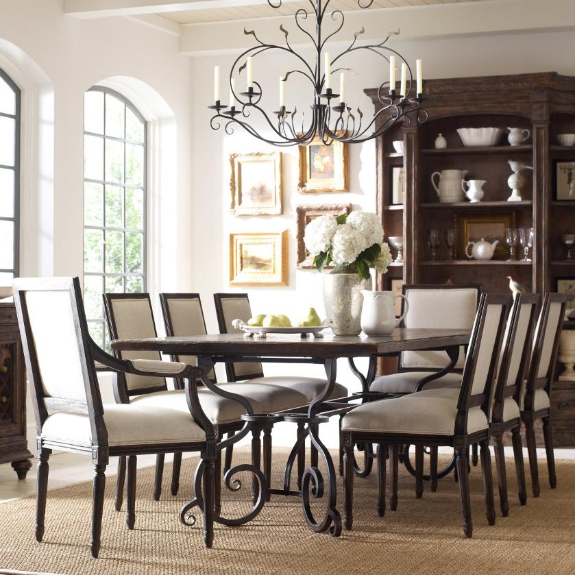 "Kincaid Dining Room Set: Kincaid Furniture Artisan's Shoppe Dining Traditional Nine Piece 94"" Rectangular Table And"