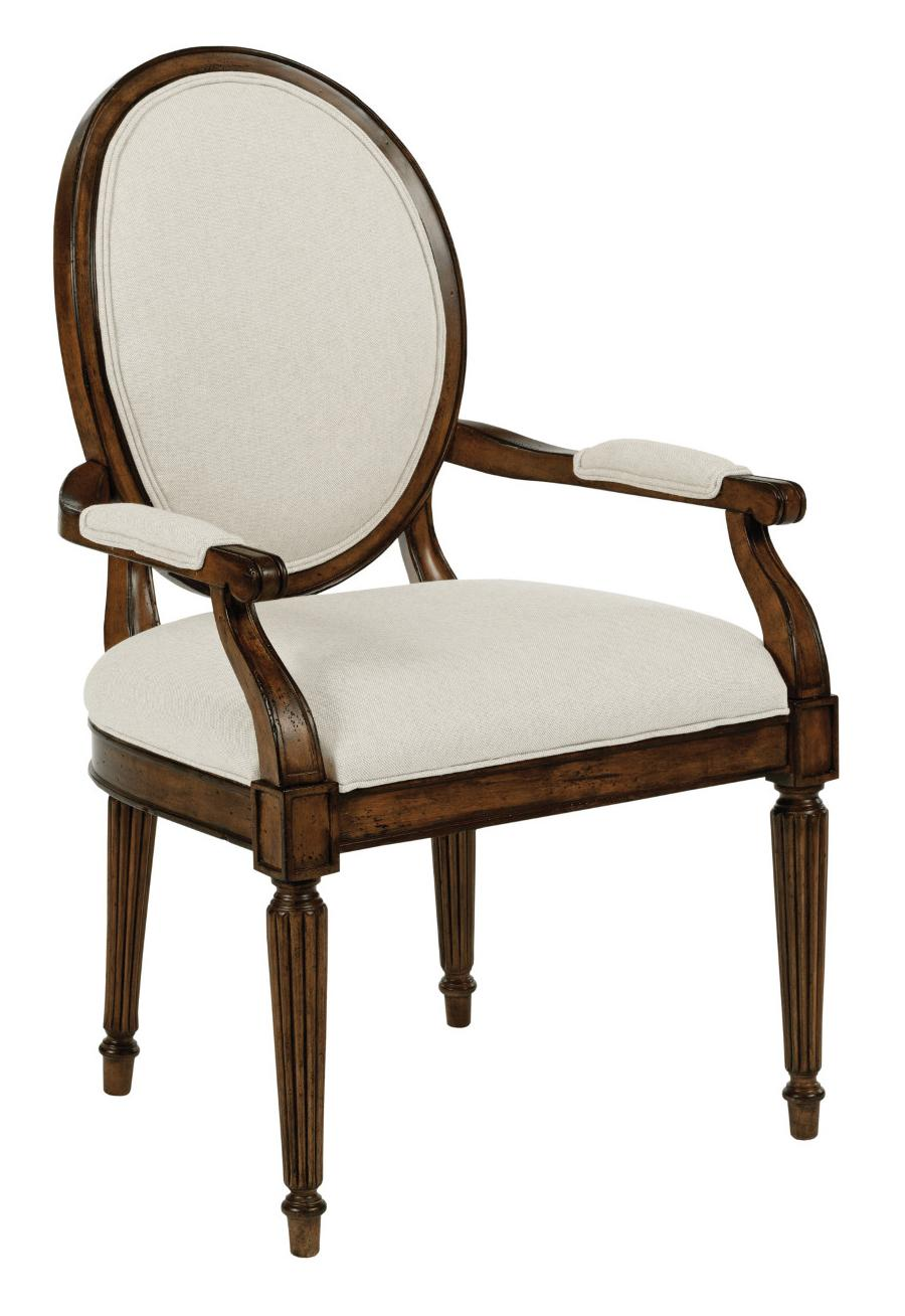 Kincaid Furniture Artisan's Shoppe Dining Oval-Backed Dining Arm Chair - Item Number: 90-2485