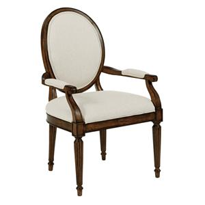 Kincaid Furniture Artisan's Shoppe Dining Oval-Backed Dining Arm Chair