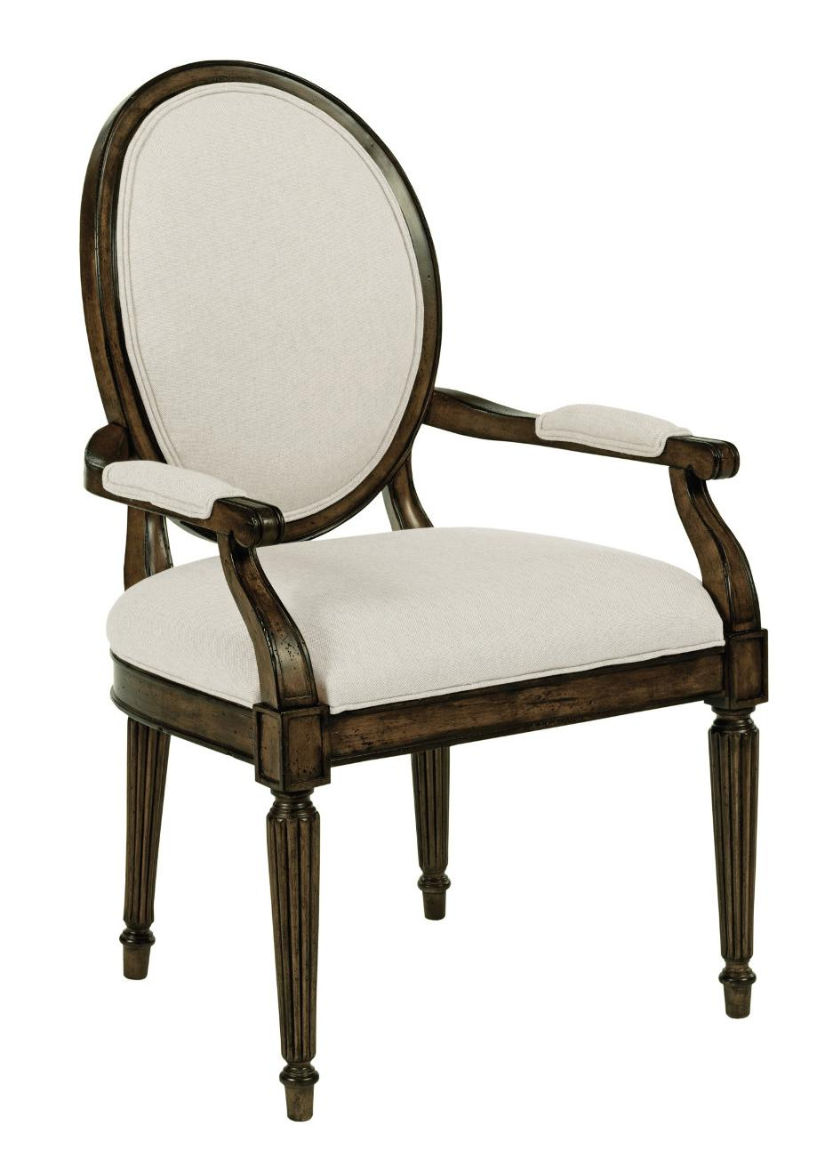 Kincaid Furniture Artisan's Shoppe Dining Oval-Backed Dining Arm Chair - Item Number: 90-2489