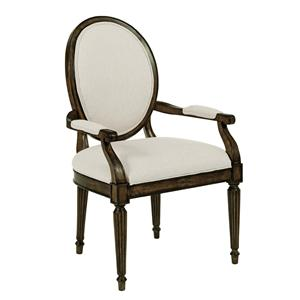 Oval-Backed Dining Arm Chair