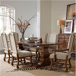 "Kincaid Furniture Artisan's Shoppe Dining 7 Pc 94"" Table w/ Ladderback Chair Set"