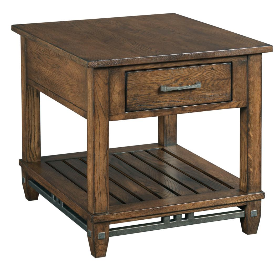 Kincaid Furniture Bedford Park Rectangular End Table with Drawer - Item Number: 74-022