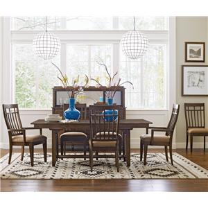 Kincaid Furniture Bedford Park 7 PcTrestle Table and Surrey Chairs Set